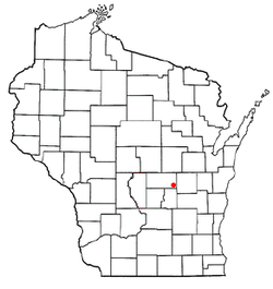 Location of Aurora, Waushara County, Wisconsin