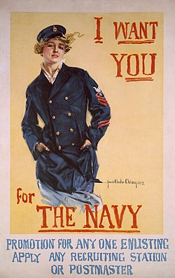 U.S. Navy recruitment poster for women