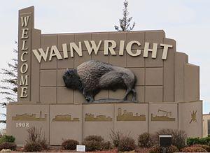 Wainwright, Alberta - Welcome sign