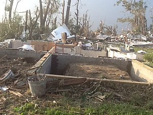 Tornado outbreak of June 16–18, 2014 - House that was swept completely away by the EF4 Wakefield tornado.
