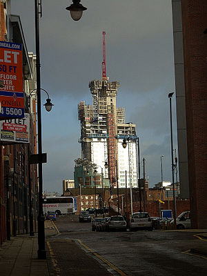 17 New Wakefield Street - Image: Wakefield Street Tower construction Dec 2011
