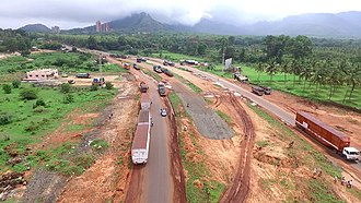 Palakkad Gap - Panorama view of Palakkad from Tamilnadu side