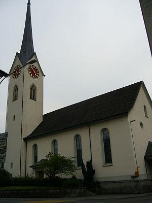 Wald, Zürich - The Dorfkirche (Protestant church) in Wald
