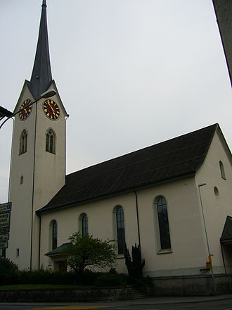 Wald, Zürich - The Dorfkirche (Protestant church) in Wald