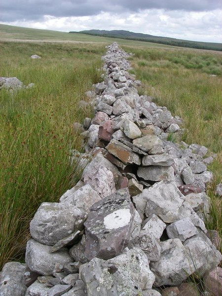 File:Wall leads the eye to Cribarth - geograph.org.uk - 505762.jpg