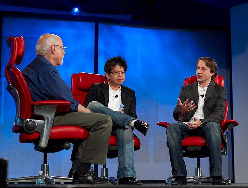 Walt Mossberg, Steve Chen and Chad Hurley.jpg