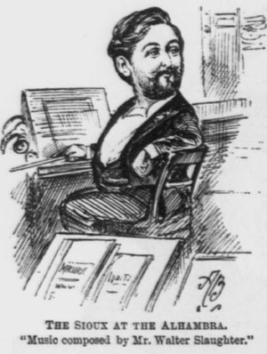 Walter Slaughter - Walter Slaughter - 1891 caricature