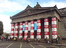 Andy-Warhol-Ausstellung zu seinem 20. Todestag in der Royal Scottish Academy in Edinburgh, Schottland