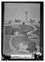 Wash drawing of Jerusalem Temple area, mosque grounds LOC matpc.08620.jpg