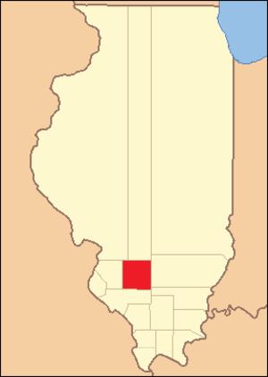 Washington County, Illinois - Image: Washington County Illinois 1818