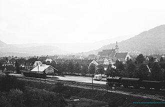 Weilheim an der Teck - Weilheim station 1963