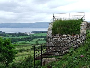 Inverkip - A valve house on the Cut, with Inverkip beyond.