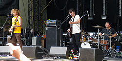 Wavves performing at Sasquatch in 2011.