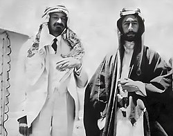 Chaim Weizmann and Emir Faisal.