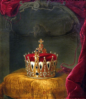 Archducal hat - Painting of the archducal hat of Joseph II, Holy Roman Emperor