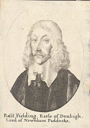 Earl of Denbigh - Basil Feilding, 2nd Earl of Denbigh.