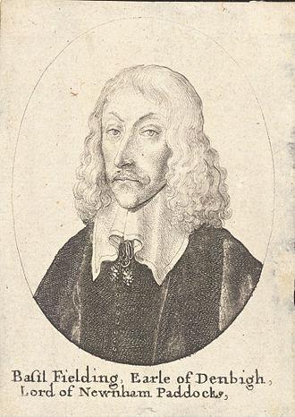 Earl of Denbigh - Basil Feilding, 2nd Earl of Denbigh.