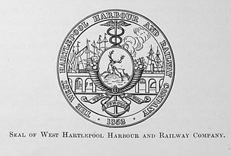 West Hartlepool - Image: West Hartlepool harbour and railway seal