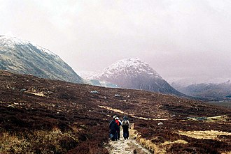 West Highland Way - Approach to Glen Coe