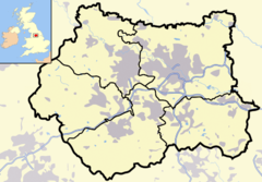 West Yorkshire outline map with UK