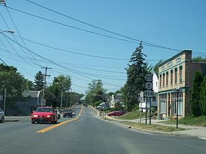 U.S. Route 20 in New York - US 20, NY 5 and NY 414 in Seneca Falls
