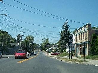 U.S. Route 20 in New York - US 20, NY 5 and NY 414 in Seneca Falls