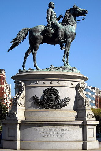 George Henry Thomas - The bronze equestrian statue of Thomas by John Quincy Adams Ward, located at Thomas Circle in Washington, D.C.
