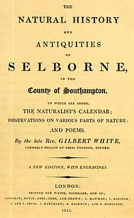 <i>The Natural History and Antiquities of Selborne</i> book by Gilbert White