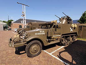 A restored M13 Half-track in a museum in Den Helder.
