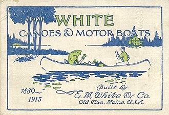 E.M. White Canoe Company - cover of 1915 E.M. White catalog