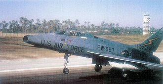 Wheelus Air Base - North American F-100D-65-NA Super Sabre AF Serial No. 56-2967 of the 20th FBW at Wheelus AB.