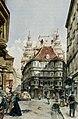Wien Lugeck alter und neuer Regensburger Hof 1897 Franz Poledne.jpg