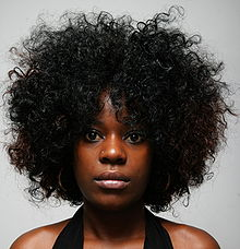 Woman Wearing A Loose Afro