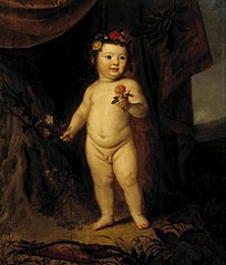 Portrait of a Child as Cupid