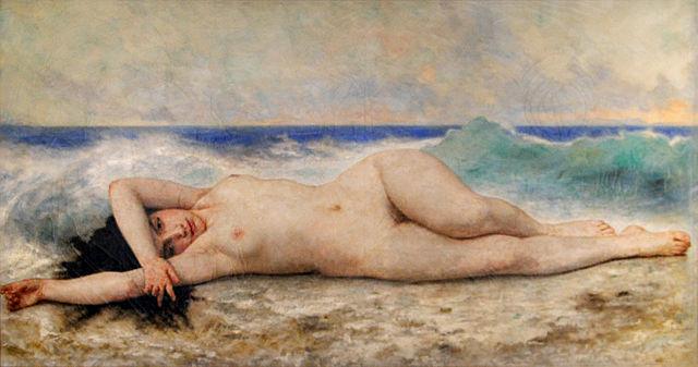 Океанида— одна из последних картин Вильяма Бугро. 1905, Музей изящных искусств Ла-Рошели