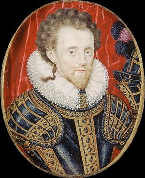 William Compton, 1st Earl of Northampton - Portrait miniature of Sir William Compton as Baron Compton, c. 1600, by an unknown artist.