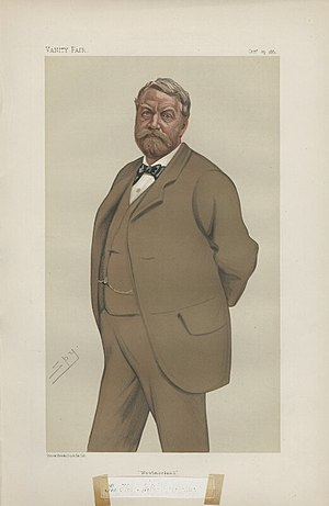 """William Lowther (diplomat) - """"Westmorland"""" Lowther as caricatured by Spy (Leslie Ward) in Vanity Fair, October 1881"""