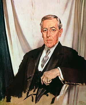Presidency of Woodrow Wilson - Wilson by Sir William Orpen