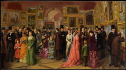 William Powell Frith: A Private View at the Royal Academy, 1881
