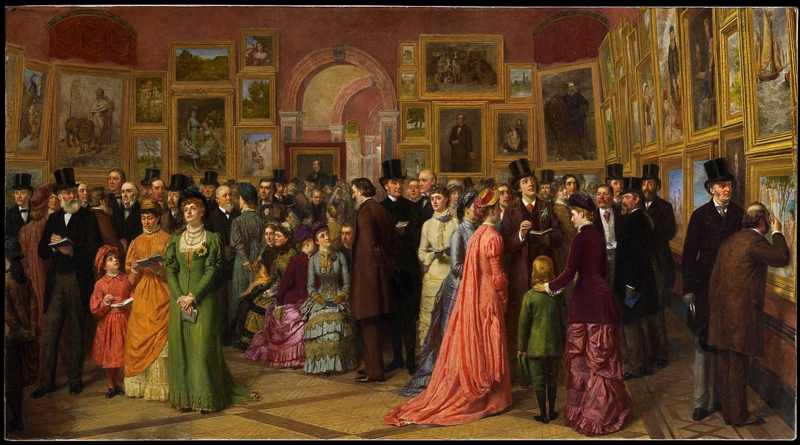 File:William Powell Frith - 'A Private View at the Royal Academy, 1881' (Martin Beisly Fine Art).webp