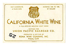 Wine label Roma Wine Company Union Pacific RR.jpg