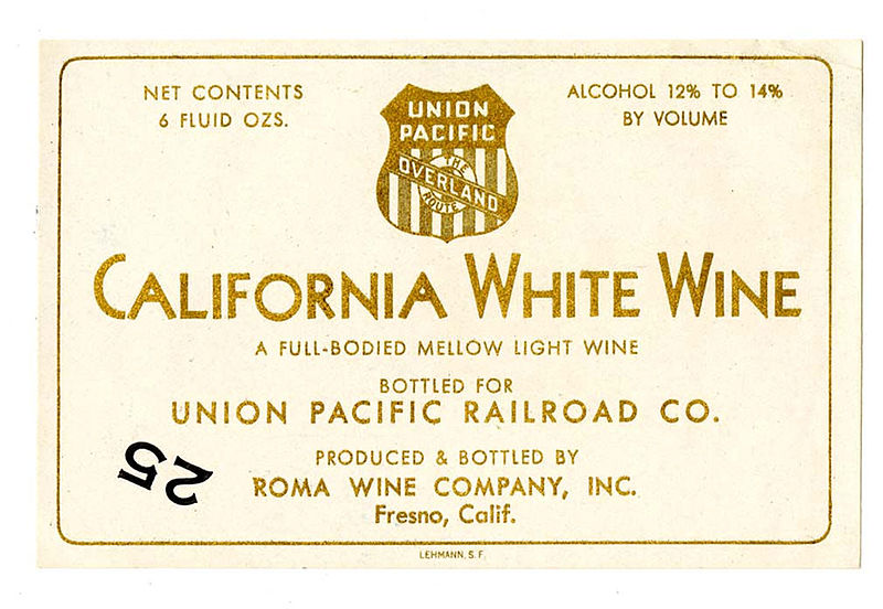 Label uploaded by 	California Historical Society to Wikimedia Commons under no copyright restrictions