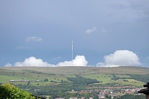 Winter Hill (North West England) - Winter Hill from Blackrod. The mast can be seen for many miles around