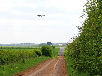 RAF Wittering - Harrier approaches from the south-west in April 2007