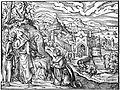 Woodcut; Christ healing a leper, 16th century Wellcome L0016741.jpg