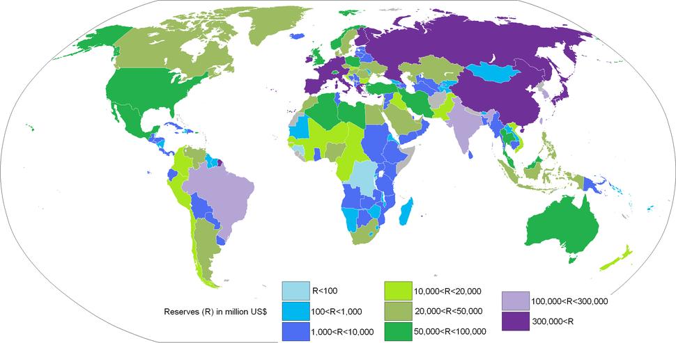 World international reserves june 2007