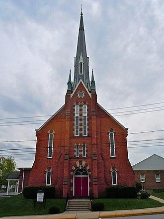 Wrightsville Historic District - Lutheran church in Wrightsville Historic District, April 2011