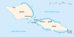 Samoa - Mappa