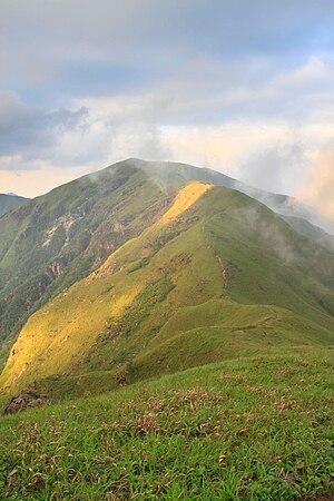 The ridgeline of Wugong Mountain in Jiangxi, China.