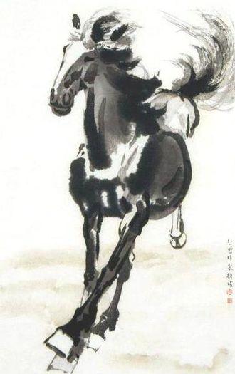 Xu Beihong - Galloping Horse